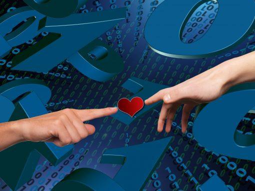 2-Punkt-Methode mit Herz (Matrix)